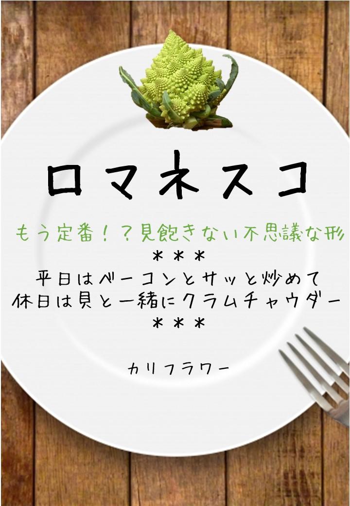 食卓風ロマネスコ写真入りPOP