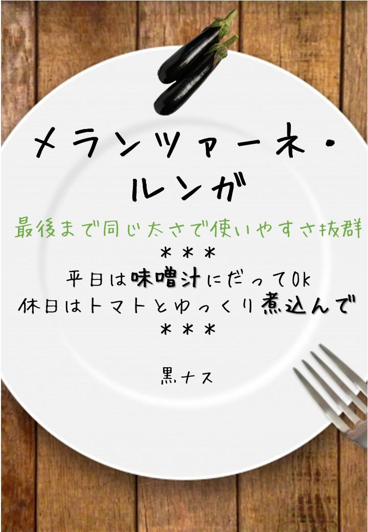 食卓風メランツァーネルンガ写真入りPOP