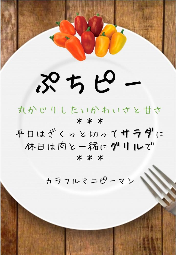 食卓風ぷちピー写真入りPOP