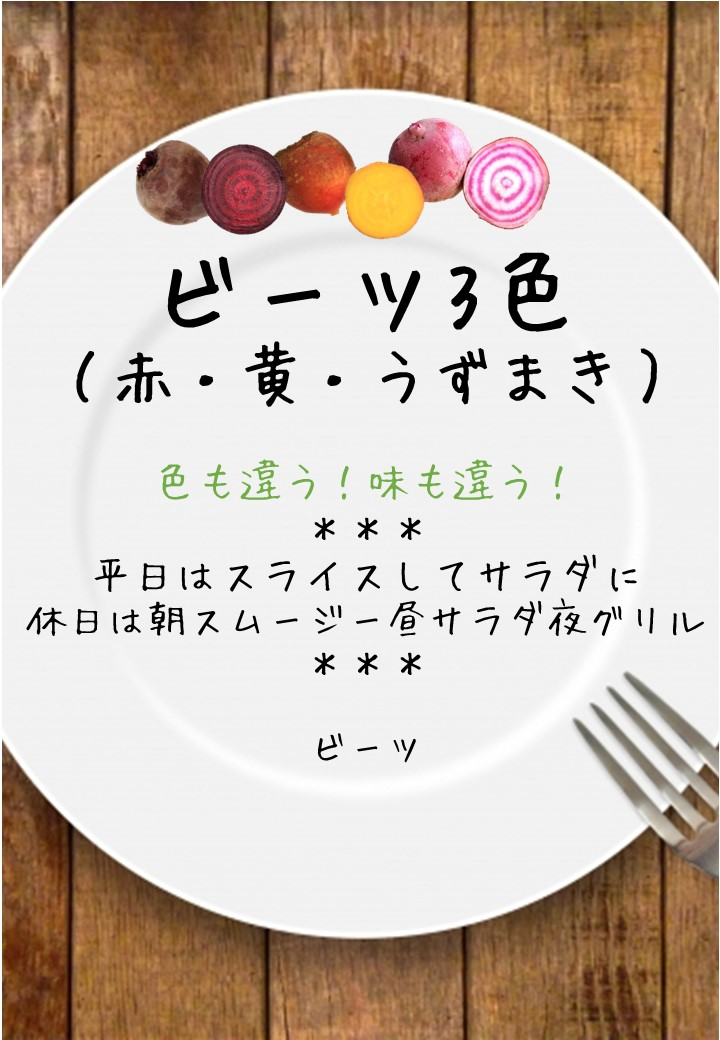 食卓風ビーツ3色写真入りPOP