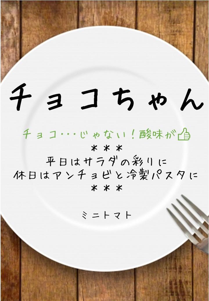 食卓風チョコちゃんPOP