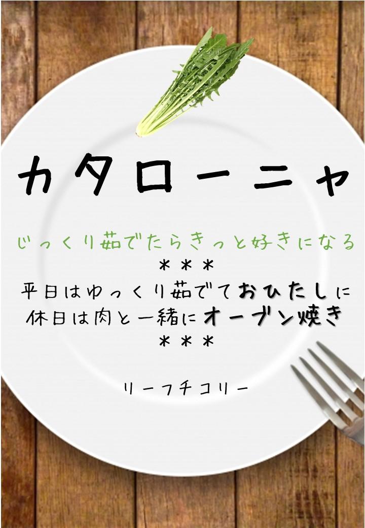 食卓風カタローニャ写真入りPOP